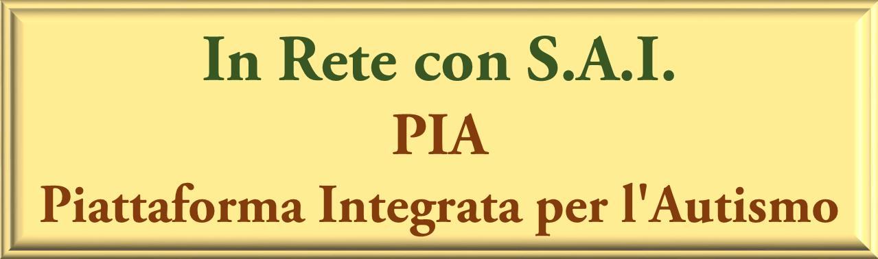 PIA PIATTAFORMA INTEGRATA AUTISMO